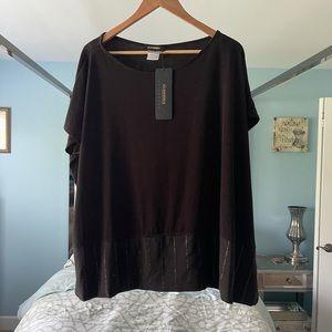 NEW Alembika Black Large Tunic Sparkle Bottom RARE